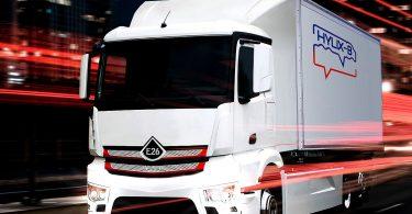 Projekt 'Hylix-B'. Der Prototyp eines vollelektrischen LKW mit 26 Tonnen Gesamtgewicht