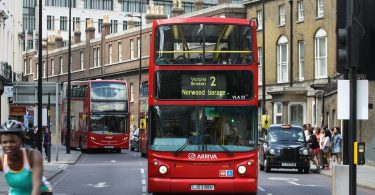 London car charge in city centre – with harmful pollution increase