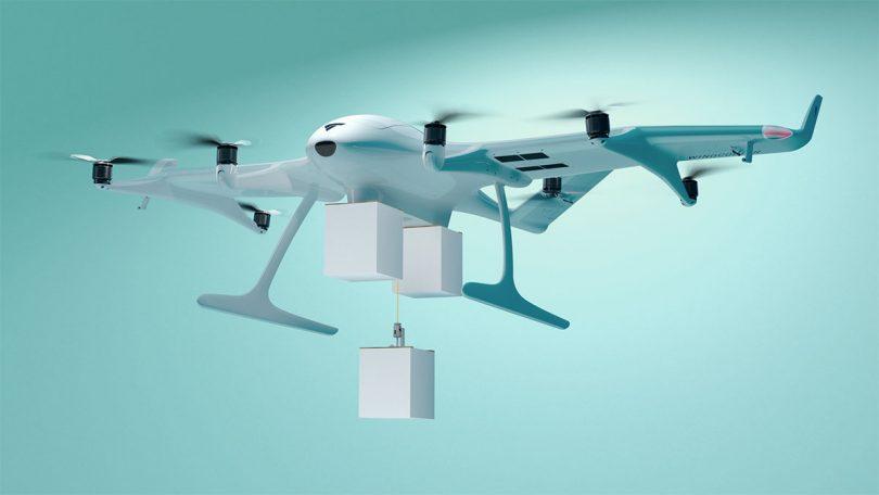Wingcopter 198, weltweit erste Triple-Drop-Lieferdrohne