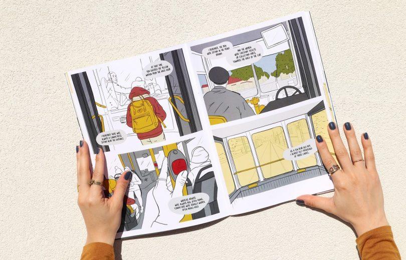 Comic book investigates the tramways in Turku (FI)