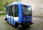 """Der automatisiert fahrende Shuttlebus """"Thyra Floh"""" in Stolberg/Harz"""