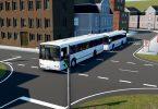 Münchner Stadtbus der Zukunft fährt in Kolonne