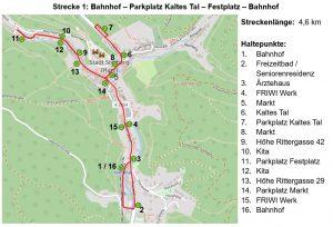 "Shuttlebus ""Thyra Floh"" in Stolberg/Harz"