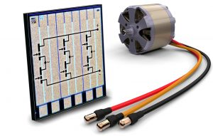 Fraunhofer IAF's 3-phase motor inverter GaN IC integrated
