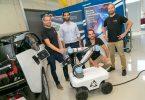 Der mobile Laderoboter, der das E-Auto lädt