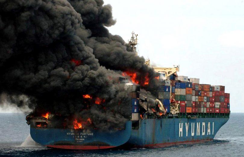 Totalverluste geringer, schwerere Brände und mehr verlorene Container
